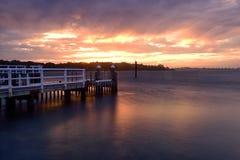 Por do sol de Shoalhaven Fotografia de Stock