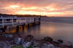 Por do sol de Shoalhaven Fotografia de Stock Royalty Free