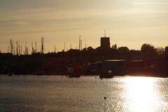 Por do sol de Shoreham Fotografia de Stock Royalty Free