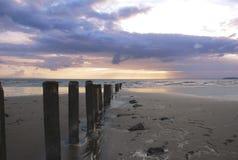 Por do sol de Somerset Imagem de Stock