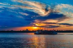 Por do sol de Songhua River Imagens de Stock Royalty Free
