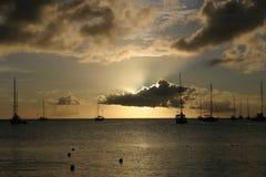 Por do sol de St Lucia Imagem de Stock Royalty Free