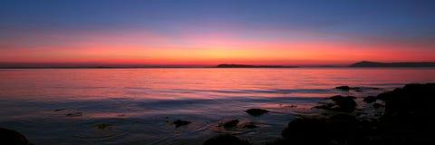 Por do sol de Stavanger Imagens de Stock Royalty Free