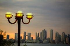 Por do sol de Toronto Imagens de Stock