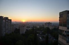 Por do sol de um sol Imagem de Stock Royalty Free