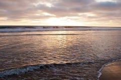 Por do sol de uma Califórnia do sul, EUA no verão Imagem de Stock Royalty Free