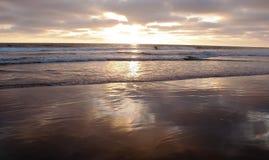 Por do sol de uma Califórnia do sul, EUA no verão Fotografia de Stock Royalty Free