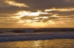 Por do sol de uma Califórnia do sul, EUA no verão Foto de Stock Royalty Free