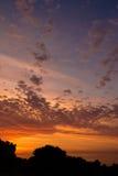 Por do sol de Uruguai Foto de Stock