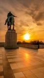 Por do sol de VÃtkov, Praga, República Checa Fotografia de Stock Royalty Free