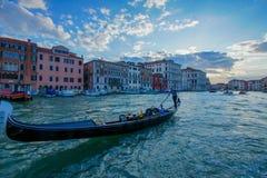 Por do sol de Veneza Itália Fotografia de Stock Royalty Free