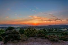 Por do sol de Wirral Fotografia de Stock Royalty Free