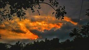 Por do sol de Wonderfull Fotografia de Stock