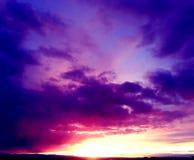 Por do sol de Wyoming Fotos de Stock Royalty Free