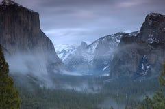 Por do sol de Yosemite Foto de Stock