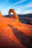 Por do sol delicado do arco Fotografia de Stock Royalty Free