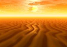 Por do sol. Deserto Imagem de Stock