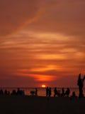 Por do sol do açafrão Foto de Stock Royalty Free