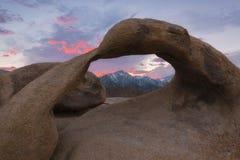 Por do sol do arco de Mobius Imagem de Stock