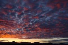 Por do sol do Arizona Imagens de Stock