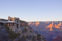 Por do sol do Arizona da garganta grande fotografia de stock