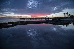 Por do sol do azul de Florida Fotografia de Stock