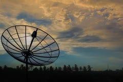 Por do sol do céu da antena parabólica Fotografia de Stock Royalty Free