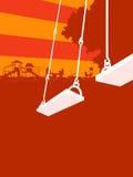 Por do sol do campo de jogos Foto de Stock Royalty Free