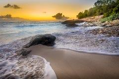 Por do sol do Cararibe Fotos de Stock