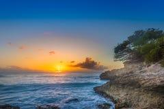 Por do sol do Cararibe Fotografia de Stock Royalty Free