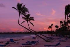 Por do sol do Cararibe Imagem de Stock