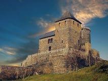 Por do sol do castelo Fotos de Stock Royalty Free