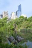 Por do sol do Central Park em New York City Imagens de Stock Royalty Free