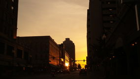 Por do sol do centro de Memphis Foto de Stock