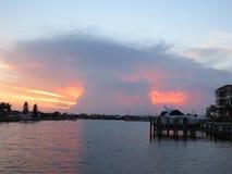 Por do sol do cogumelo atômico de Florida Imagem de Stock Royalty Free