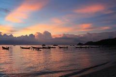 Por do sol do console de Tao do Koh Imagem de Stock Royalty Free