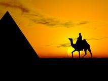 Por do sol do deserto ilustração stock