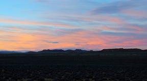 Por do sol do deserto Foto de Stock Royalty Free