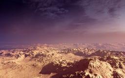 Por do sol do deserto da fantasia Imagem de Stock Royalty Free