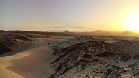 Por do sol do deserto de Sinai Fotografia de Stock