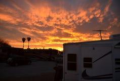 Por do sol do deserto do Arizona imagem de stock royalty free