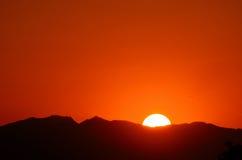 Por do sol #1 do deserto do Sonora Foto de Stock Royalty Free