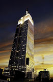 Por do sol do Empire State Building Fotos de Stock Royalty Free