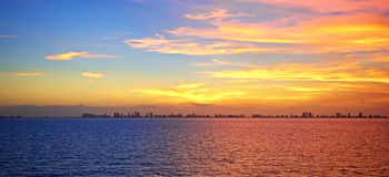 Por do sol do Fort Lauderdale imagens de stock royalty free