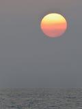 Por do sol do golfo Foto de Stock Royalty Free