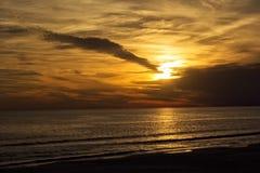 Por do sol do Golfo do México Imagem de Stock