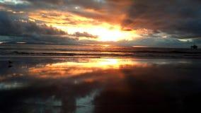 Por do sol do Huntington Beach Imagens de Stock