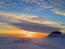 Por do sol do inverno Fotos de Stock Royalty Free