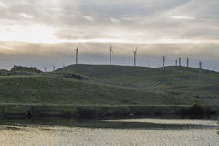 Por do sol do inverno em Bethany Reservoir imagens de stock royalty free