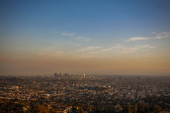 Por do sol do LA Fotografia de Stock Royalty Free